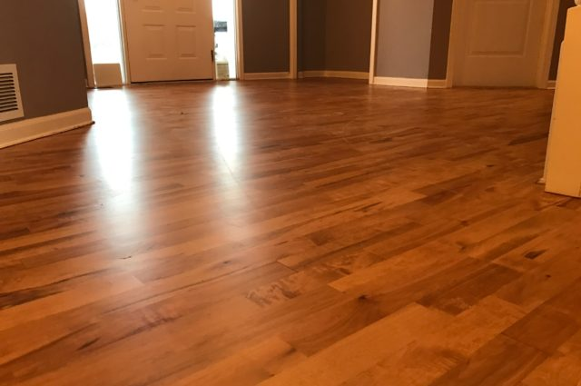 Maple Wood Floor Refinishing